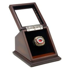 MLB 1990 Cincinnati Reds World Series Championship Replica Fan Ring with Wooden Display Case