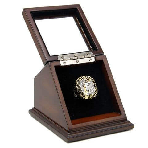 MLB 1997 Miami/Florida Marlins World Series Championship Replica Fan Ring with Wooden Display Case