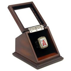 MLB 2002 Los Angeles Angels of Anaheim World Series Championship Replica Fan Ring with Wooden Display Case