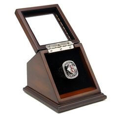 MLB 2004 Boston Red Sox World Series Championship Replica Fan Ring with Wooden Display Case