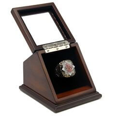 MLB 2006 St. Louis Cardinals World Series Championship Replica Fan Ring with Wooden Display Case