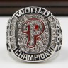 MLB 2008 Philadelphia Phillies World Series Championship Replica Fan Ring with Wooden Display Case