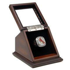 MLB 2011 St. Louis Cardinals World Series Championship Replica Fan Ring with Wooden Display Case