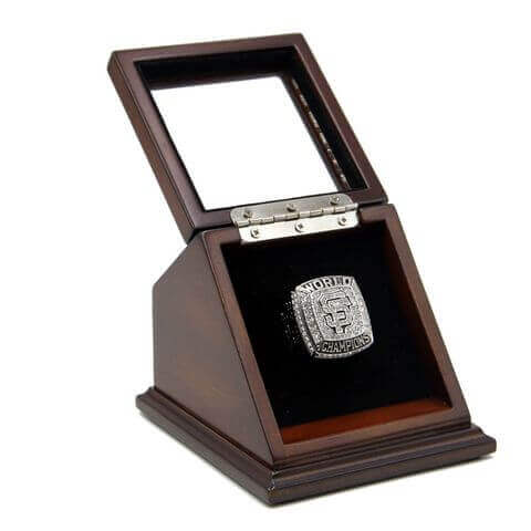 MLB 2012 San Francisco Giants World Series Championship Replica Fan Ring with Wooden Display Case