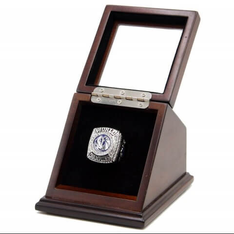 NBA 2011 Dallas Mavericks 18K Platinum Plated Replica Championship Fan Ring