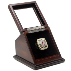 NCAA 2011 Alabama Crimson Tide Championship Replica Ring with Wooden Display Case