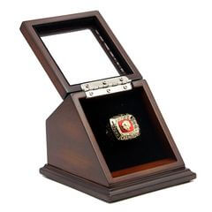 NFC 1972 Washington Redskins Championship Replica Fan Ring with Wooden Display Case
