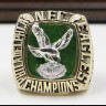 NFC 1980 Philadelphia Eagles Championship Replica Fan Ring with Wooden Display Case