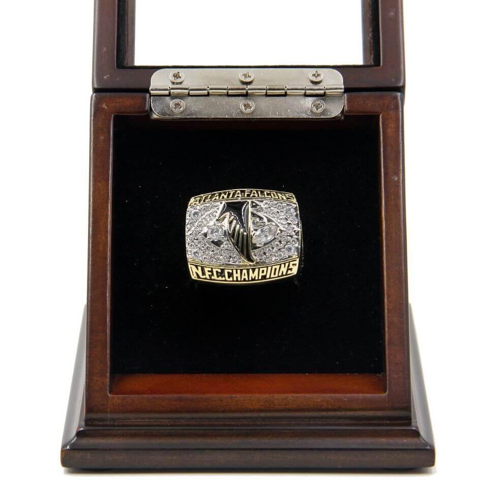NFC Atlanta Falcons Championship Replica Ring - Atlanta falcon us fan map