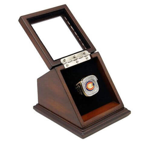 NFC 2006 Chicago Bears Championship Replica Fan Ring with Wooden Display Case