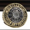 NFL 1966 Super Bowl I Green Bay Packers Championship Replica Fan Ring with Wooden Display Case