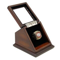 NFL 1969 Super Bowl IV Kansas City Chiefs Championship Replica Fan Ring with Wooden Display Case