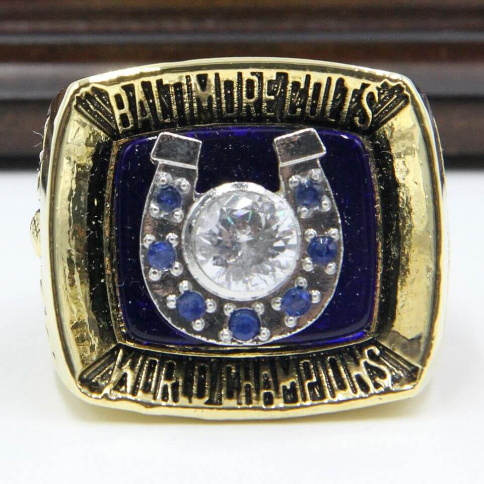 NFL 1970 Super Bowl V Baltimore Colts Championship Replica Ring
