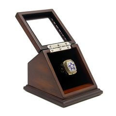 NFL 1971 Super Bowl VI Dallas Cowboys Championship Replica Fan Ring with Wooden Display Case