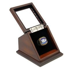 NFL 1973 Super Bowl VIII Miami Dolphins Championship Replica Fan Ring with Wooden Display Case