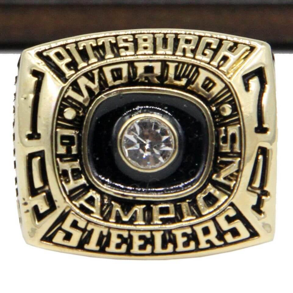 Nfl 1974 Super Bowl Ix Pittsburgh Steelers Championship Replica Ring