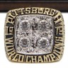 NFL 1979 Super Bowl XIV Pittsburgh Steelers Championship Replica Fan Ring with Wooden Display Case