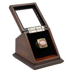 NFL 1982 Super Bowl XVII Washington Redskins Championship Replica Fan Ring with Wooden Display Case