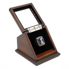 NFL 1986 Super Bowl XXI New York Giants Championship Replica Fan Ring with Wooden Display Case