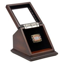 NFL 1987 Super Bowl XXII Washington Redskins Championship Replica Fan Ring with Wooden Display Case