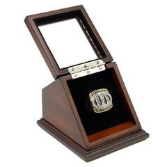 NFL 1988 Super Bowl XXIII San Francisco 49Ers Championship Replica Fan Ring with Wooden Display Case