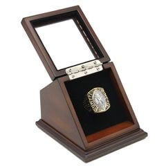 NFL 1989 Super Bowl XXIV San Francisco 49Ers Championship Replica Fan Ring with Wooden Display Case
