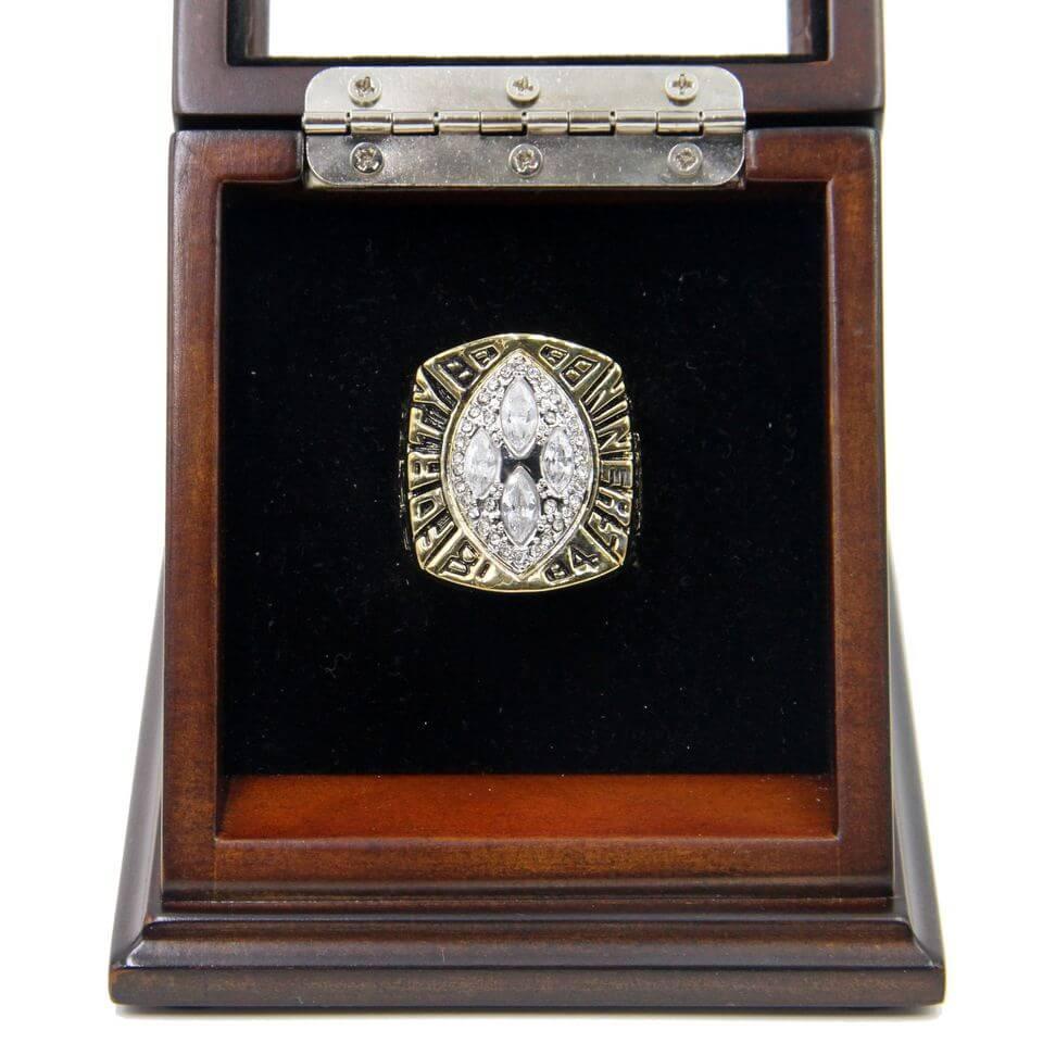 New NFL 1989 Super Bowl XXIV San Francisco 49Ers Championship Replica Ring