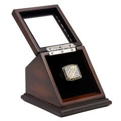 NFL 1991 Super Bowl XXVI Washington Redskins Championship Replica Fan Ring with Wooden Display Case
