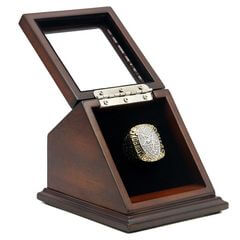 NFL 1992 Super Bowl XXVII Dallas Cowboys Championship Replica Fan Ring with Wooden Display Case