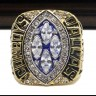 NFL 1993 Super Bowl XXVIII Dallas Cowboys Championship Replica Fan Ring with Wooden Display Case