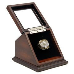 NFL 2002 Super Bowl XXXVII Tampa Bay Buccaneers Championship Replica Fan Ring with Wooden Display Case