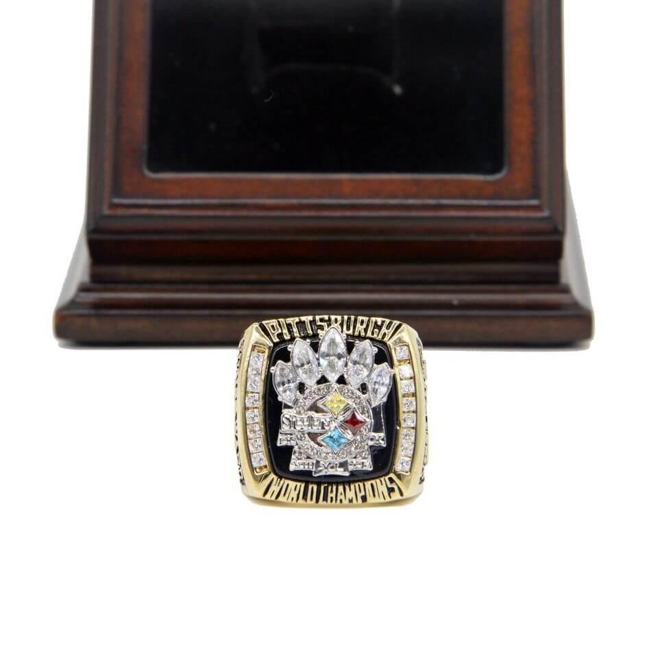 Nfl 2005 Super Bowl Xl Pittsburgh Steelers Championship Replica Ring