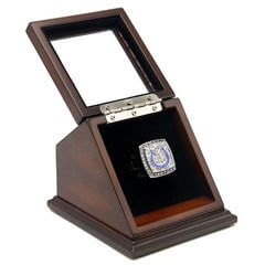 NFL 2006 Super Bowl XLI Indianapolis Colts Championship Replica Fan Ring with Wooden Display Case
