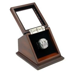 NFL 2011 Super Bowl XLVI New York Giants Championship Replica Fan Ring with Wooden Display Case - Manning
