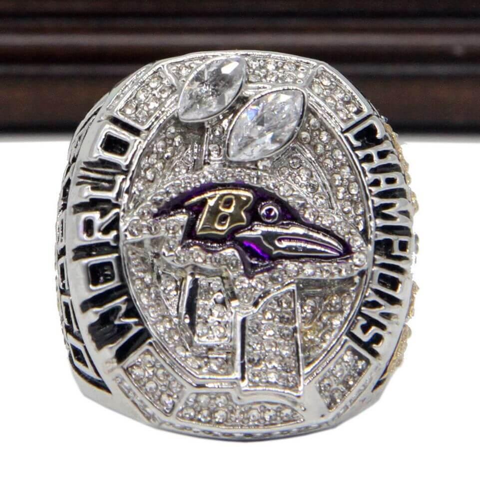 Mercedes Benz Of Tampa >> NFL 2012 Super Bowl XLVII Baltimore Ravens Championship Replica Ring - Flacco