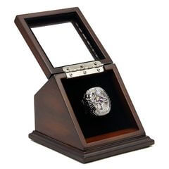 NFL 2012 Super Bowl XLVII Baltimore Ravens Championship Replica Fan Ring with Wooden Display Case - Flacco
