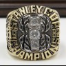 NHL 1982 New York Islanders Stanley Cup Championship Replica Fan Ring with Wooden Display Case