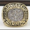 NHL 1988 Edmonton Oilers Stanley Cup Championship Replica Fan Ring with Wooden Display Case