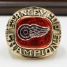 NHL 1997 Detroit Red Wings Stanley Cup Championship Replica Fan Ring with Wooden Display Case