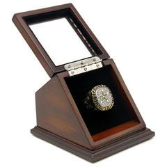 NHL 1999 Dallas Stars Stanley Cup Championship Replica Fan Ring with Wooden Display Case