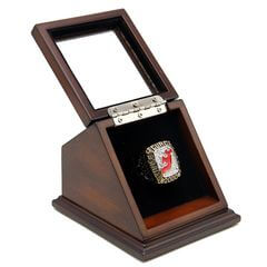 NHL 2000 New Jersey Devils Stanley Cup Championship Replica Fan Ring with Wooden Display Case