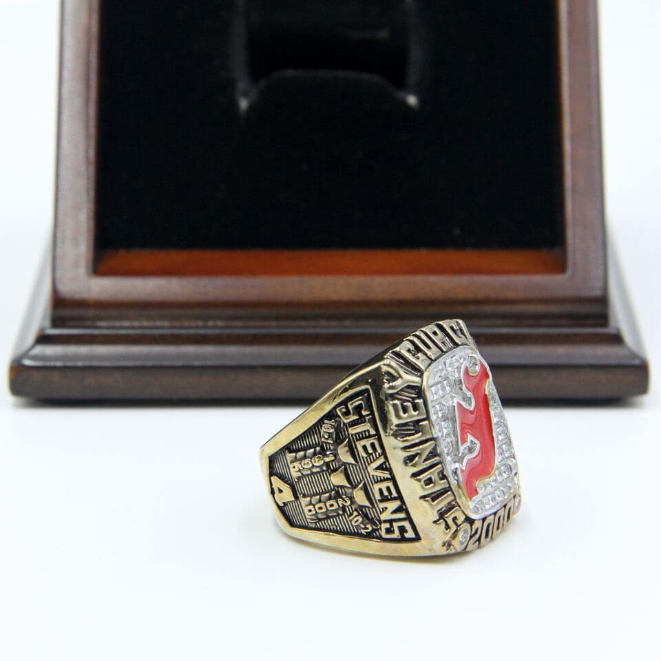 ... NHL 2000 New Jersey Devils Stanley Cup Championship Replica Fan Ring  with Wooden Display Case 56467d663