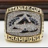 NHL 2001 Colorado Avalanche Stanley Cup Championship Replica Fan Ring with Wooden Display Case