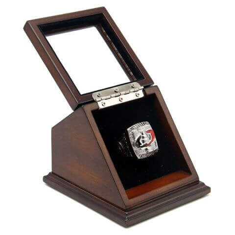 NHL 2006 Carolina Hurricanes Stanley Cup Championship Replica Fan Ring with Wooden Display Case