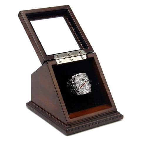 NHL 2007 Anaheim Ducks Stanley Cup Championship Replica Fan Ring with Wooden Display Case