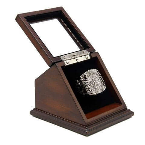 NHL 2011 Boston Bruins Stanley Cup Championship Replica Fan Ring with Wooden Display Case