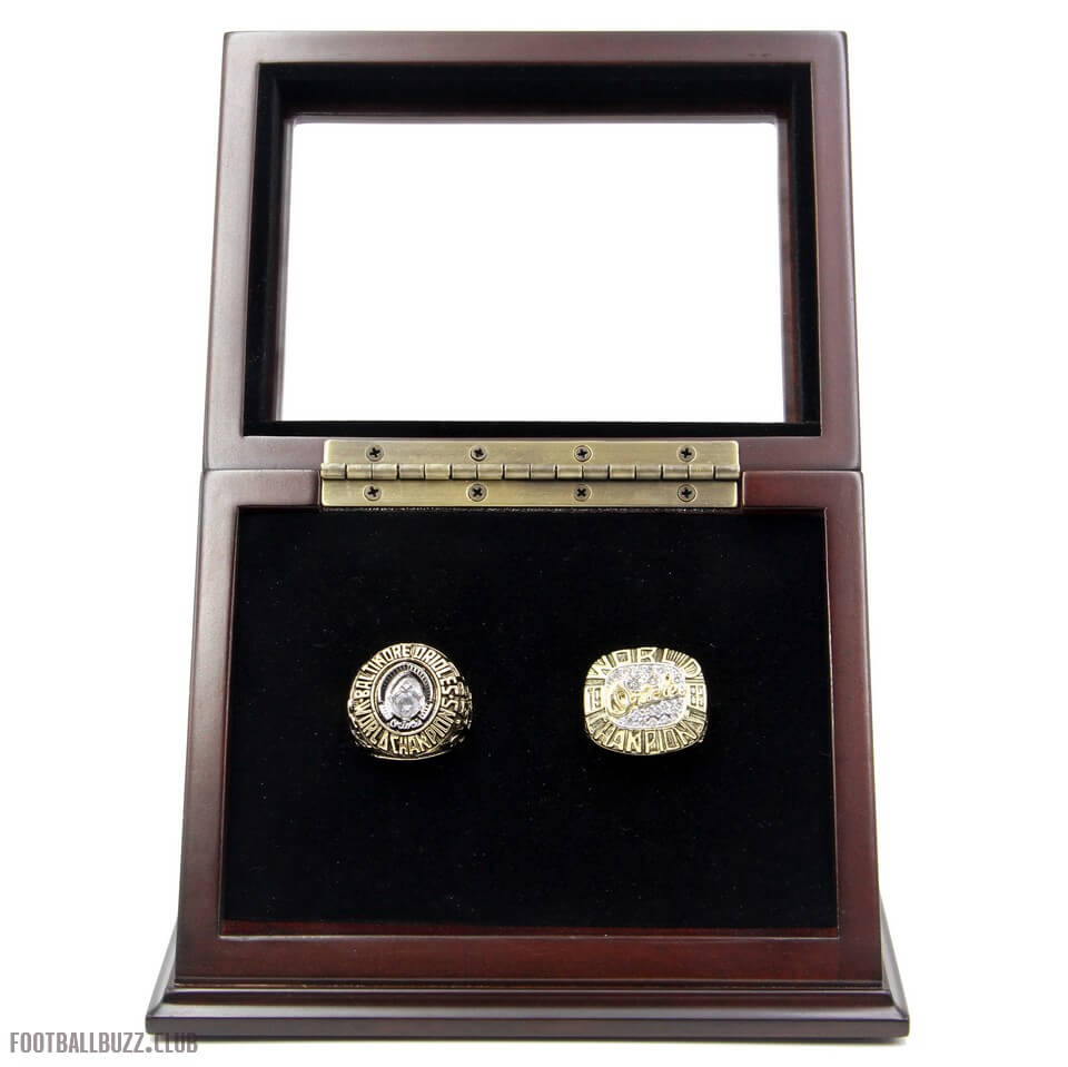 Wooden display case for championship rings for Ring case