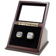 MLB 1985 2015 Kansas City Royals World Series Championship Replica Fan Rings with Wooden Display Case Set