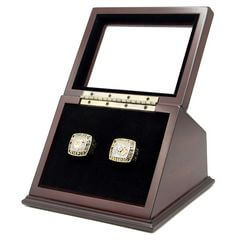 MLB 1992 1993 Toronto Blue Jays World Series Championship Replica Fan Rings with Wooden Display Case Set