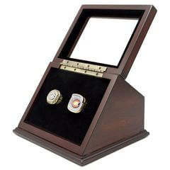 NFL 1985 2006 Chicago Bears Super Bowl Championship Replica Fan Rings with Wooden Display Case Set